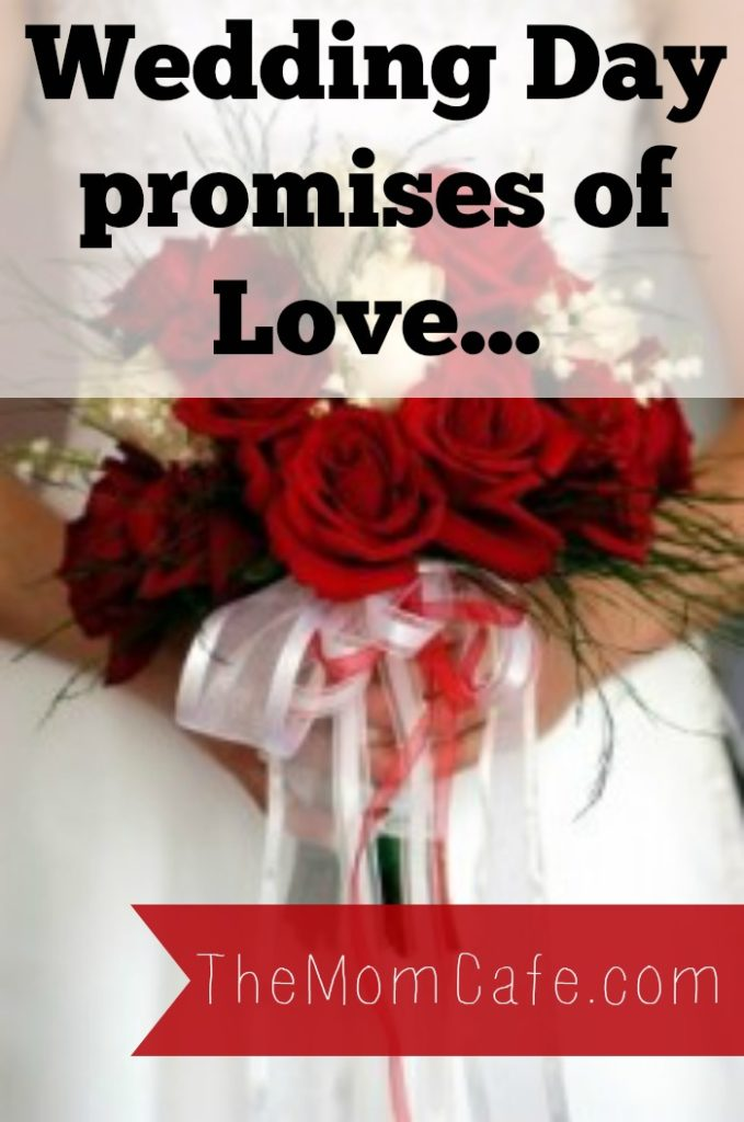 Wedding vows, love and marriage
