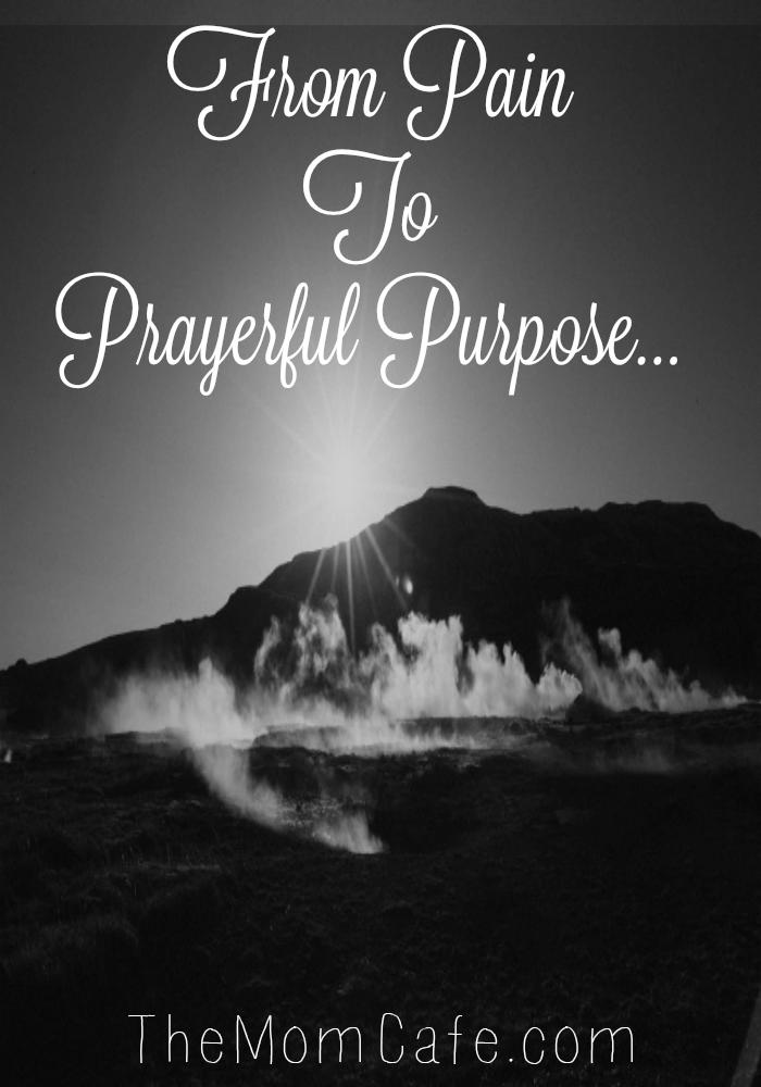 Illness, pain, prayer, purpose