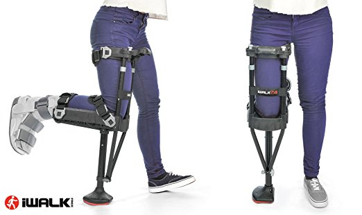 iWALK Hands Free Knee Crutch (Image of it on a leg.