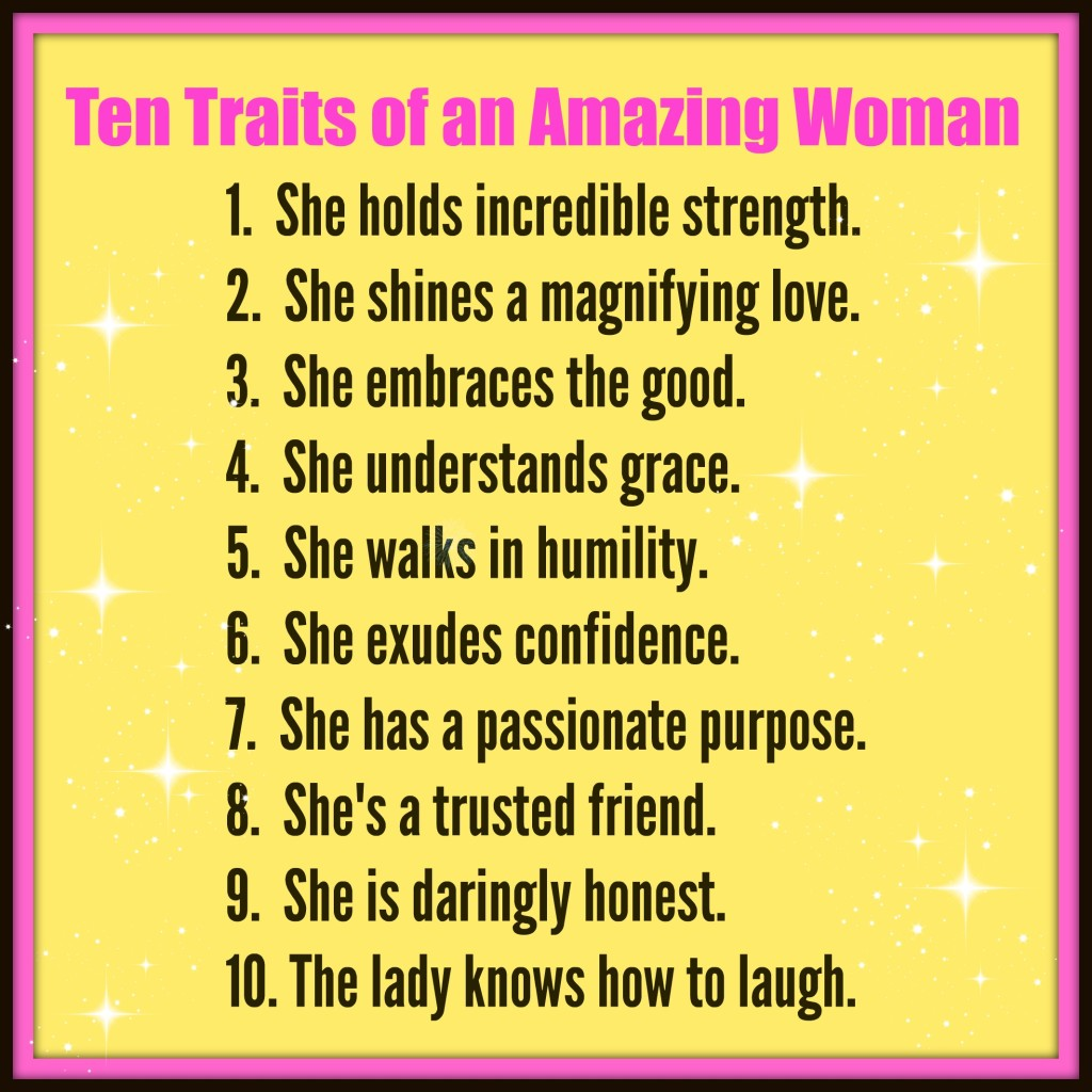 Ten Traits of an Amazing Woman