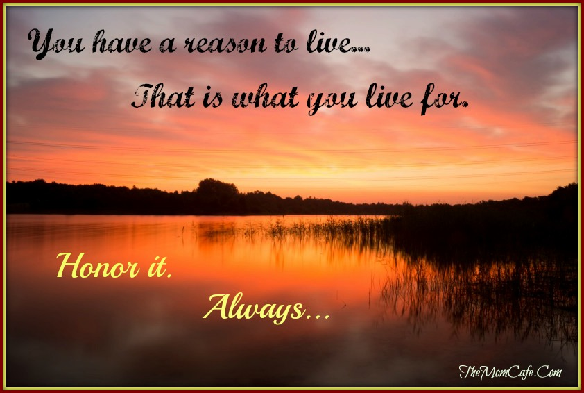 You Have A Reason To Live