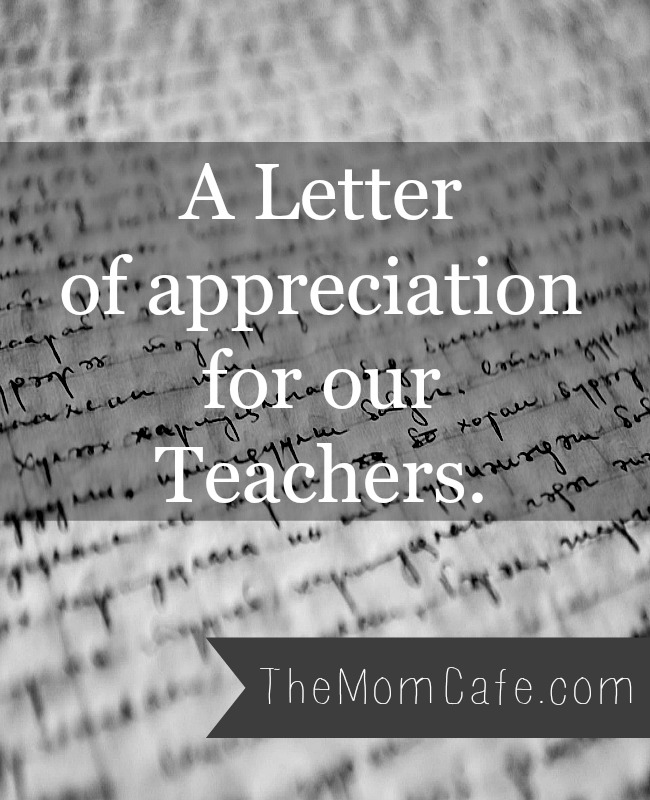 A Letter To Our Teachers