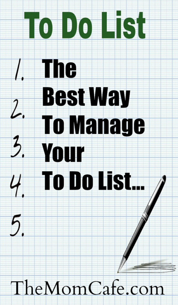 The Best Way To Manage Your To Do List