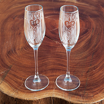 Wedding gift Bridal shower gift Champagne Flutes