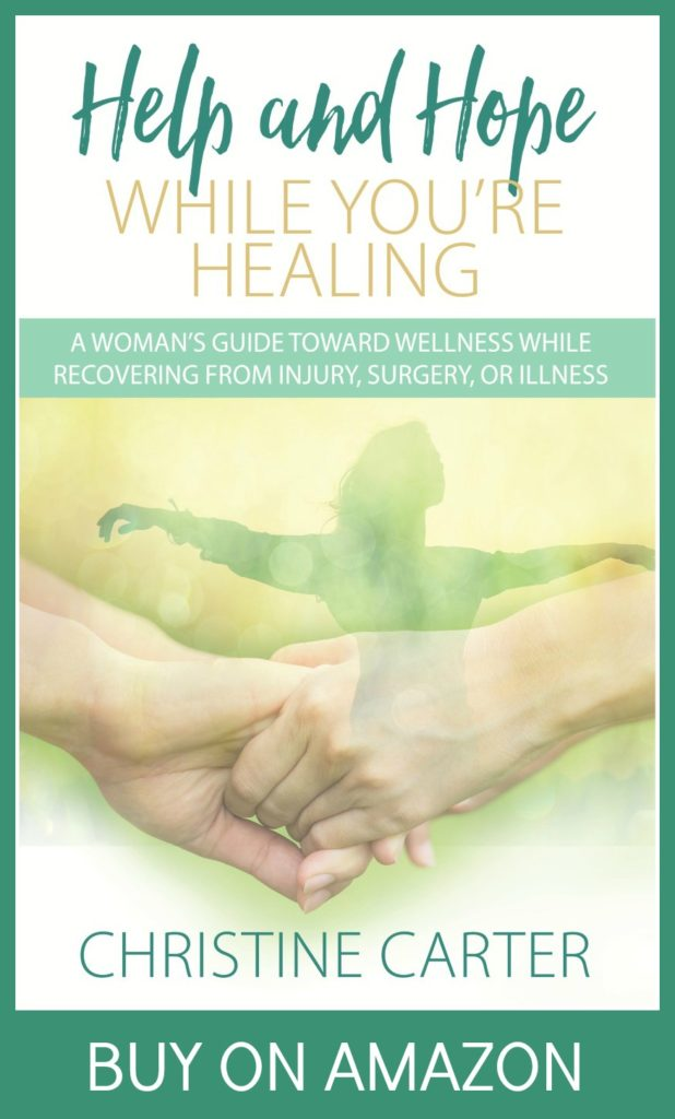 healing and recovery book for anyone suffering from injury, surgery, or illness.