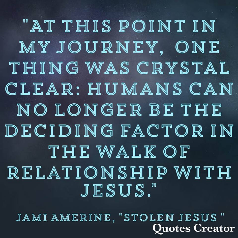 Stolen Jesus Book and Inspirational quote on faith