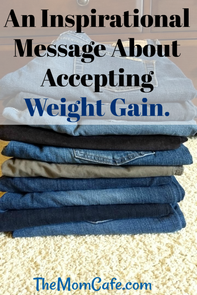 Inspirational letter about weight gain. Women's health and wellness