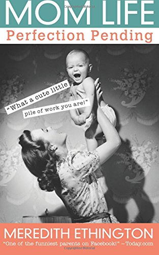 "Book cover for ""MOM LIFE Perfection Pending"" A helpful and hilarious book for all moms."